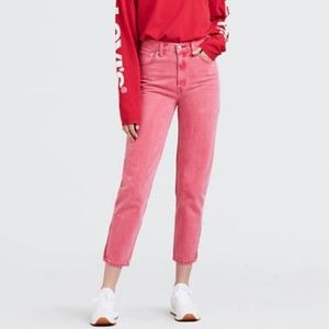 Levi's Hi Rise Red Mom Jeans Size 28